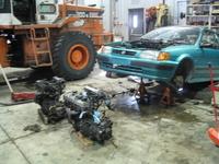 1996 Toyota Tercel 2 Dr STD Coupe, Changement de moteur, Janvier 2009 : Gasket de tête kapout..., exterior, engine