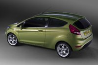 2009 Ford Fiesta, Back Left Quarter View, exterior, manufacturer, gallery_worthy