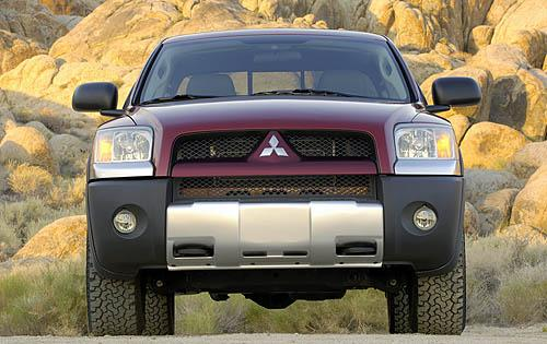 2009 Mitsubishi Raider, Front View, exterior, manufacturer