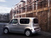 2009 Nissan Cube, Back Left Quarter View, manufacturer, exterior