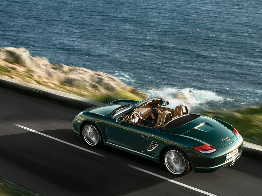 2009 Porsche Boxster, Back Left Quarter View, manufacturer, exterior
