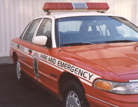 1994 Ford Crown Victoria 4 Dr S Sedan, 94 when still in service for the fire department, exterior
