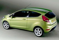 2008 Ford Fiesta, Back Left Quarter View, manufacturer, exterior