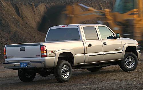 2007 GMC Sierra Classic 3500, Back Right Quarter View, exterior, manufacturer, gallery_worthy