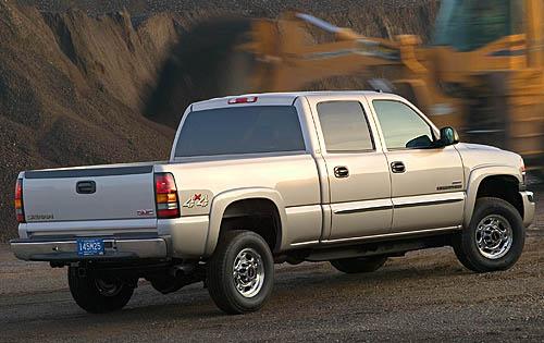 2007 GMC Sierra Classic 3500, Back Right Quarter View, exterior, manufacturer