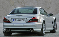 2007 Mercedes-Benz SL-Class, Back Right Quarter View, manufacturer, exterior