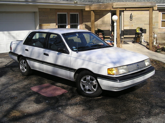Picture of 1990 Mercury Topaz 4 Dr GS Sedan