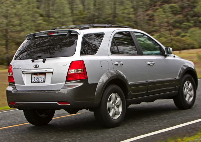 2009 Kia Sorento, Back Right Quarter View, exterior, manufacturer