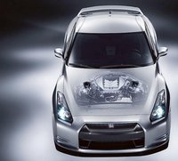 2010 Nissan GT-R, Overhead Interior/Exterior/Engine View, exterior, interior, engine, manufacturer