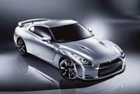 2010 Nissan GT-R, Overhead Front Right Quarter View, manufacturer, exterior