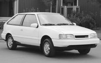 1990 Hyundai Excel, Front Right Quarter View, exterior, manufacturer