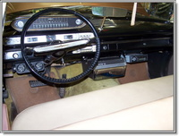 Driver's side view of the interior of my 1960 Plymouth Savoy, showing the optional 45 rpm RCA Record Player, interior