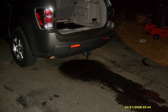 gmc acadia water leak passenger side
