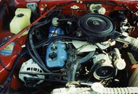 1980 Plymouth Road Runner, Base inline six cylinder engine, 225 c.u. (3.7L) Slant Six.  Two barrel carb., engine
