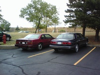 1988 Buick LeSabre, my two Lesabres side by side, exterior