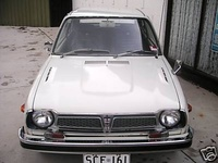 1977 Honda Civic, Before I changed the plates., exterior
