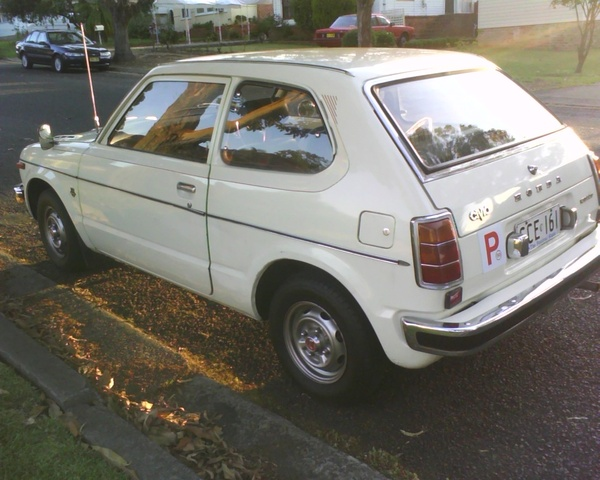 1977 Honda Civic, First day I drove it, scratched it along the side :), exterior