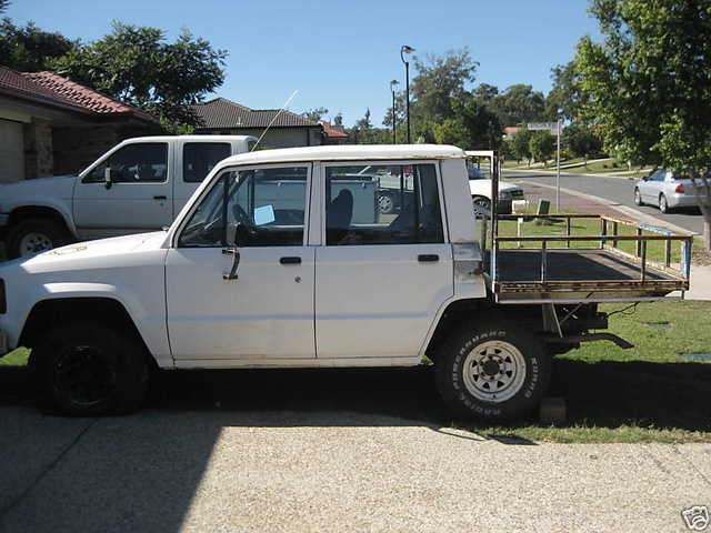 my choped flat tray holden jackaroo!!! one of a kind??? let me know!!!