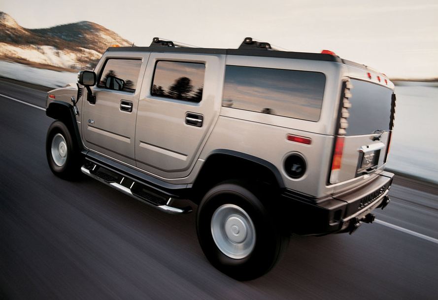 2010 Hummer H2, Back Left Quarter View, manufacturer, exterior