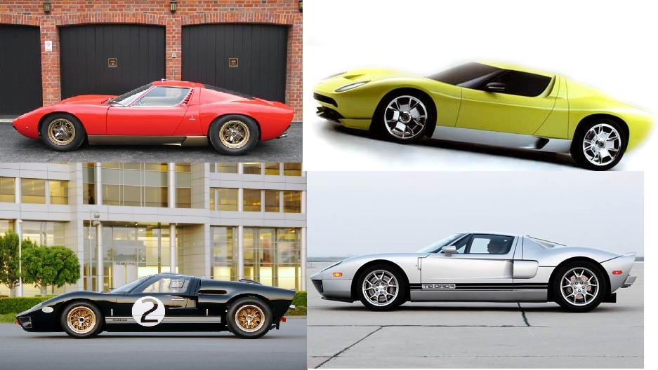 Is It Just Me Or Have The Miura And The Ford Gt Gt Always Looked Similar