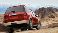 2010 Ford Explorer, Back Right Quarter View, manufacturer, exterior