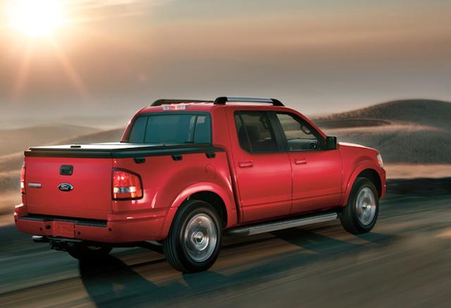 2010 Ford Explorer Sport Trac, Back Right Quarter View, exterior, manufacturer