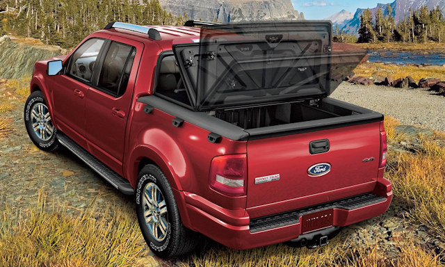 2010 Ford Explorer Sport Trac, Back Left Quarter View, manufacturer, exterior