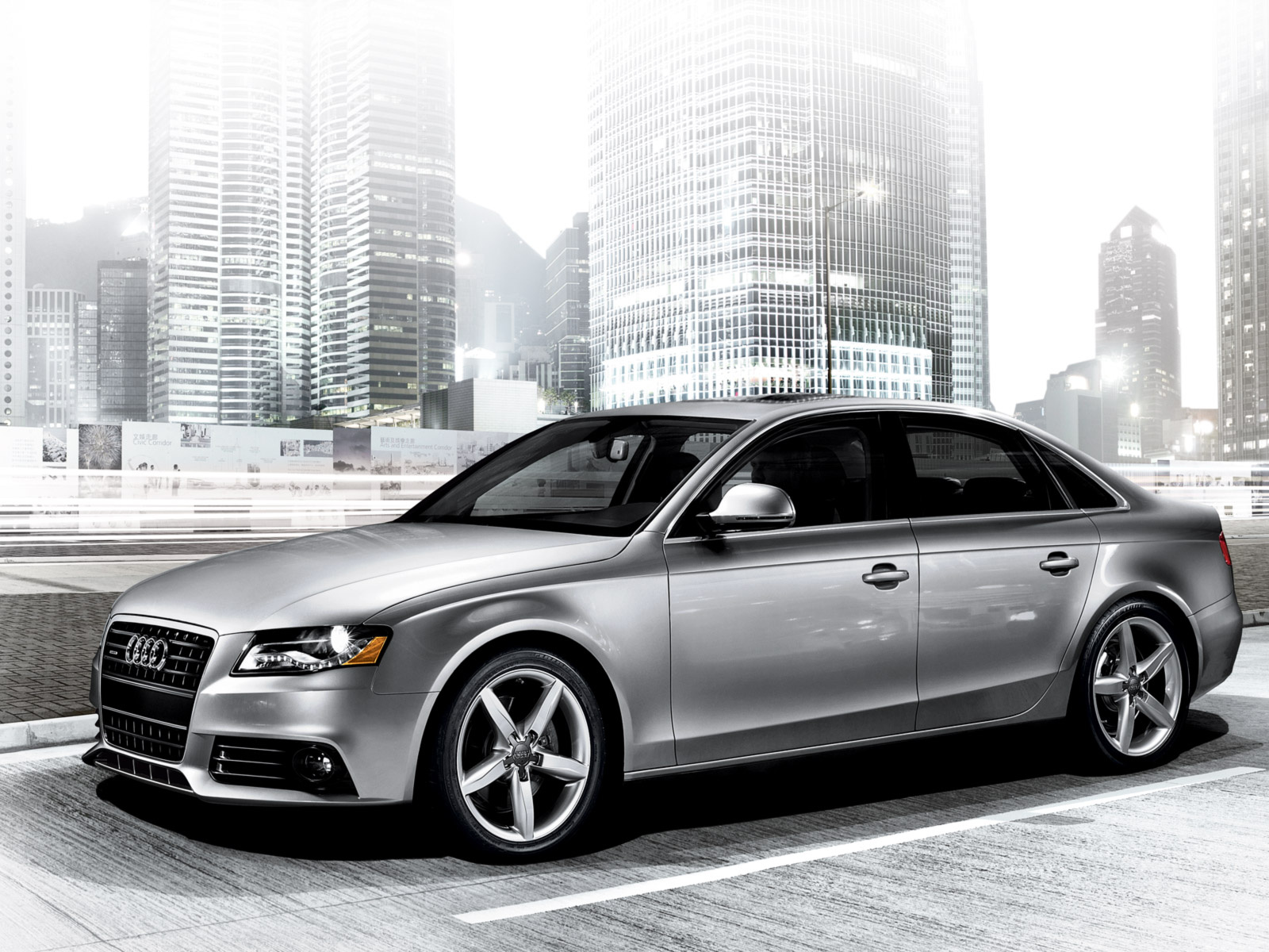 2010 Audi A4 Overview Cargurus White Black Rims