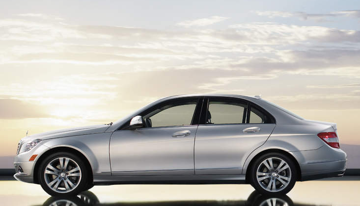 2010 Mercedes-Benz C-Class, side view, exterior, manufacturer