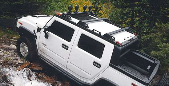 2010 Hummer H2 SUT, side view, exterior, manufacturer