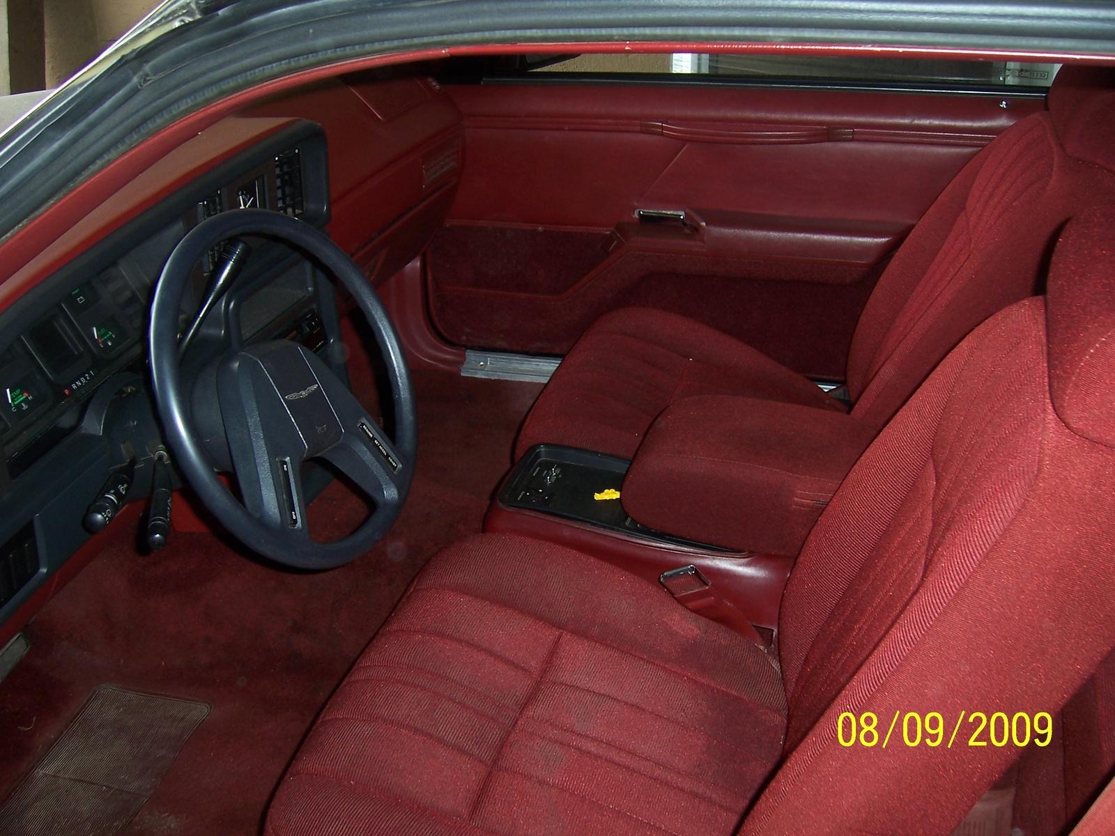 1986 Ford Thunderbird Interior 1985 Ford Thunderbird Interior