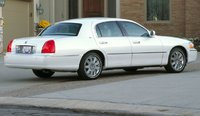 2010 Lincoln Town Car, Back Right Quarter View, exterior, manufacturer