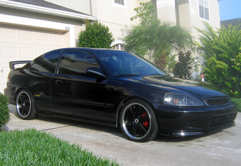 cars inspiration honda civic si 2000 black. Black Bedroom Furniture Sets. Home Design Ideas