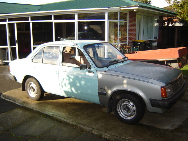 The Gem before we got her painted. She had her front end ripped off in a collision but we restored her. Her original colour - Duck Egg Blue. - yuk