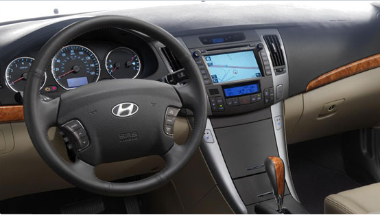 2010 Hyundai Sonata, steering wheel, manufacturer, interior