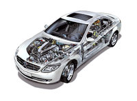2010 Mercedes-Benz CL-Class, Engine View, engine, manufacturer