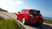 2010 Mazda MAZDASPEED3, Back Left Quarter View, manufacturer, exterior