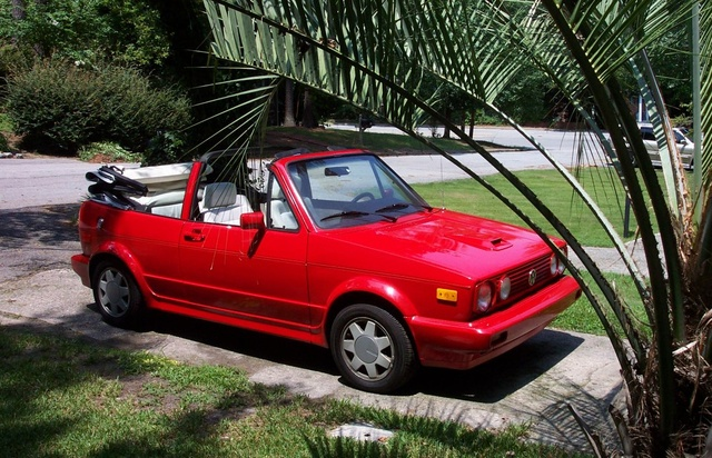 1989 Volkswagen Cabriolet, My VW painted again, this time Ferrari Red., exterior, gallery_worthy