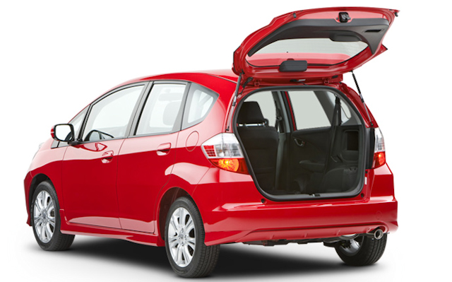 2010 Honda Fit, Back Left Quarter View, interior, exterior, manufacturer
