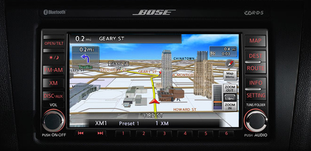 2010 Nissan Altima, Navigation screen with real time traffic reports, interior, manufacturer