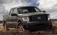 2010 Ford F-150, Front-quarter view of an FX-4, manufacturer, exterior