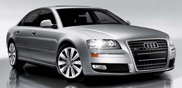 2010 Audi A8, Front Right Quarter View, manufacturer, exterior