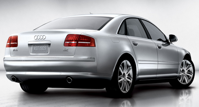 2010 Audi A8, Back Right Quarter View, manufacturer, exterior