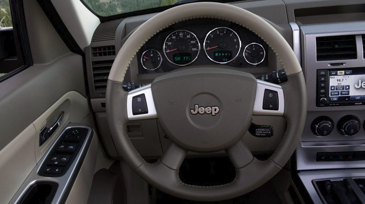 2010 Jeep Liberty, steering wheel, interior, manufacturer