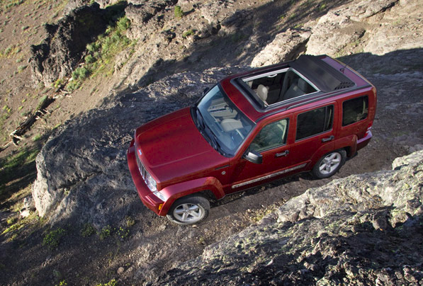 2010 Jeep Liberty, aerial view, manufacturer, exterior