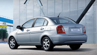 2010 Hyundai Accent, Back Left Quarter View, manufacturer, exterior