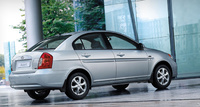 2010 Hyundai Accent, Back Right Quarter View, manufacturer, exterior