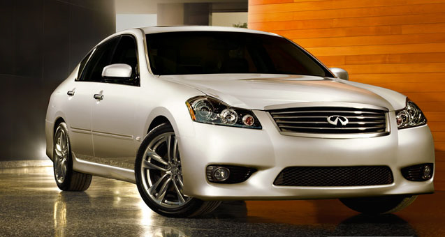 2010 Infiniti M45, Front Right Quarter View, manufacturer, exterior
