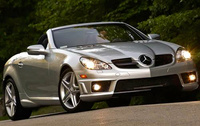 2010 Mercedes-Benz SLK-Class, Front Right Quarter View, manufacturer, exterior