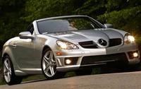 2010 Mercedes-Benz SLK-Class, Front Right Quarter View, exterior, manufacturer